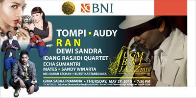 Photo of Respon luar biasa 4000 tiket UGM-BNI Jazz 2010 sold-out