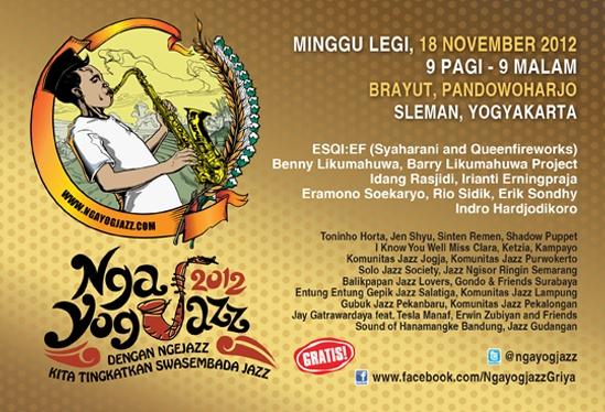 Photo of Ngayogjazz 2012: Dengan Ngejazz Kita Tingkatkan Swasembada Jazz.