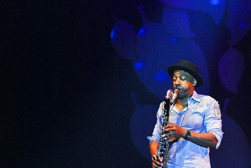 "Photo of Marcus Miller, ""The Renaissance Man"" di BNI Hall Java Jazz 2013"