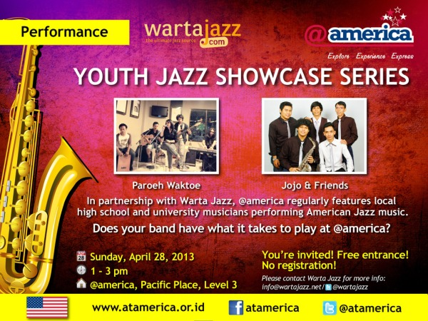 Photo of Youth Jazz Showcase Series edisi April 2013 kembali di gelar di @america