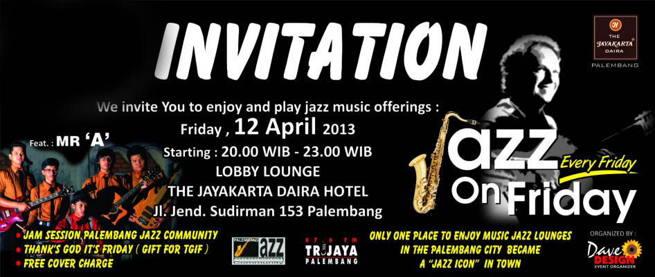 Photo of Jazz On Friday, Apresiasi Jazz Dari & Untuk Penggemar Jazz Palembang