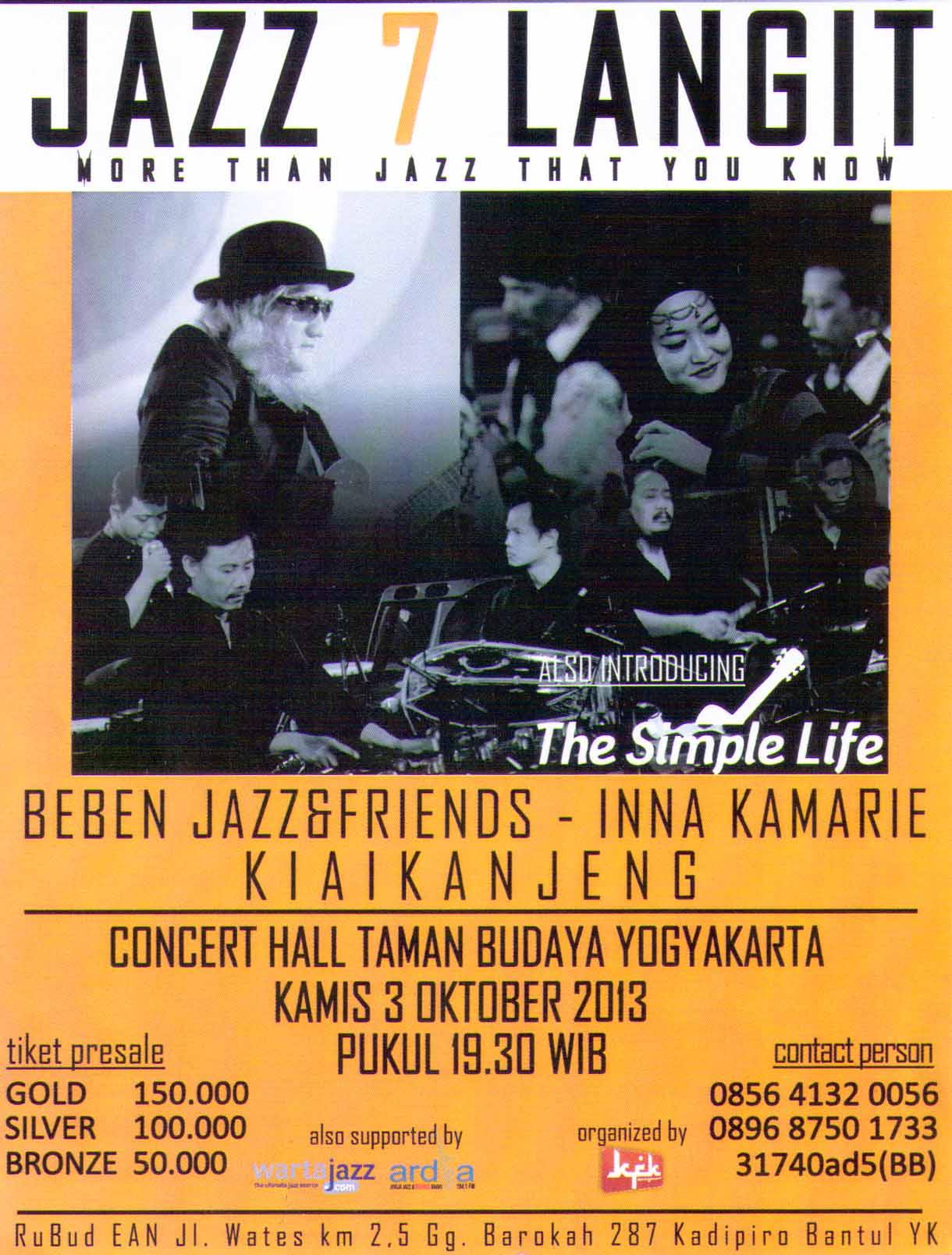 Photo of Konser Jazz 7 Langit, Kolaborasi Kiai Kanjeng dengan Beben Jazz & Friends