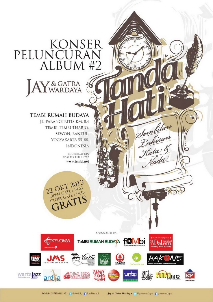 Photo of Launching Album Baru Jay & Gatra Wardaya , Tanda Hati;  Sembilan Lukisan Kata & Nada