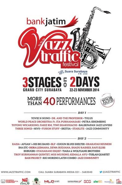 Photo of Warna Warni Jazz di 2 hari Bank Jatim Jazz Traffic Festival
