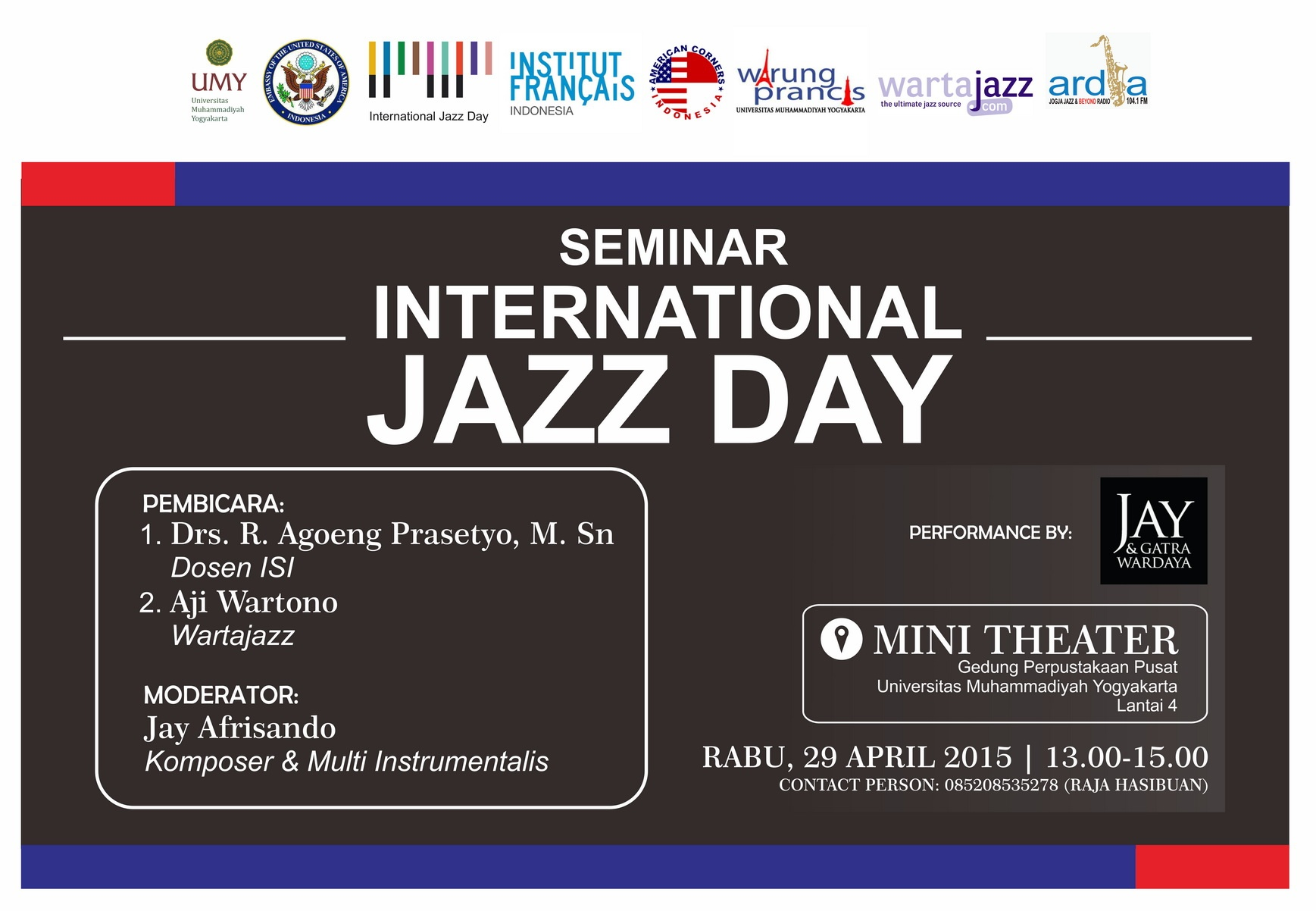 Photo of Seminar International Jazz Day di Yogyakarta