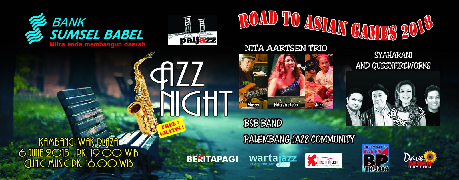 Photo of Palembang Jazz Community Gelar Jazz Night Bersama Syaharani dan Nita Aartsen