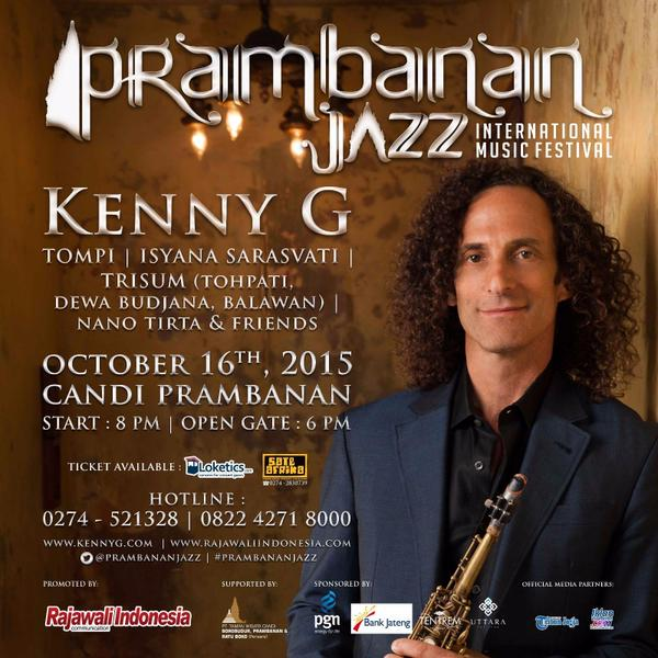 Photo of Prambanan Jazz Hadirkan Kenny G dan Musisi Jazz Tanah Air
