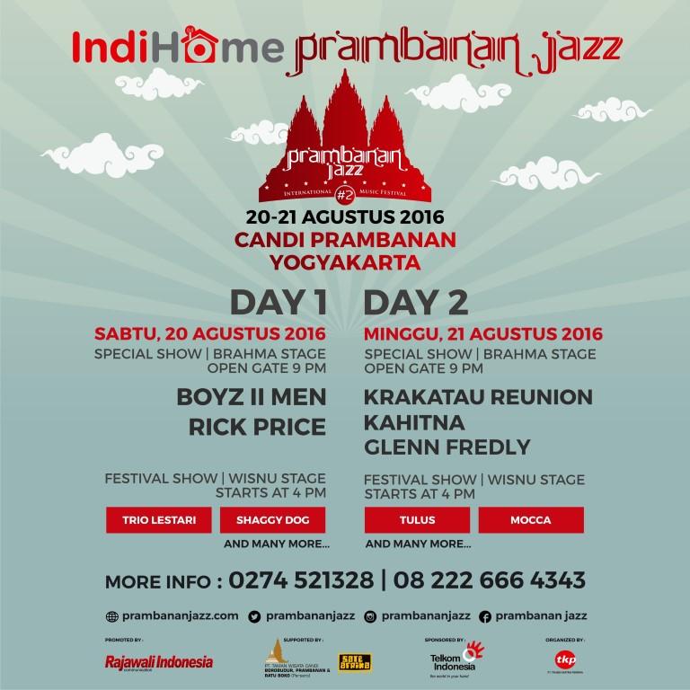 Photo of IndiHome Prambanan Jazz 2016 Akan Hadir Di Bulan Bulan Agustus