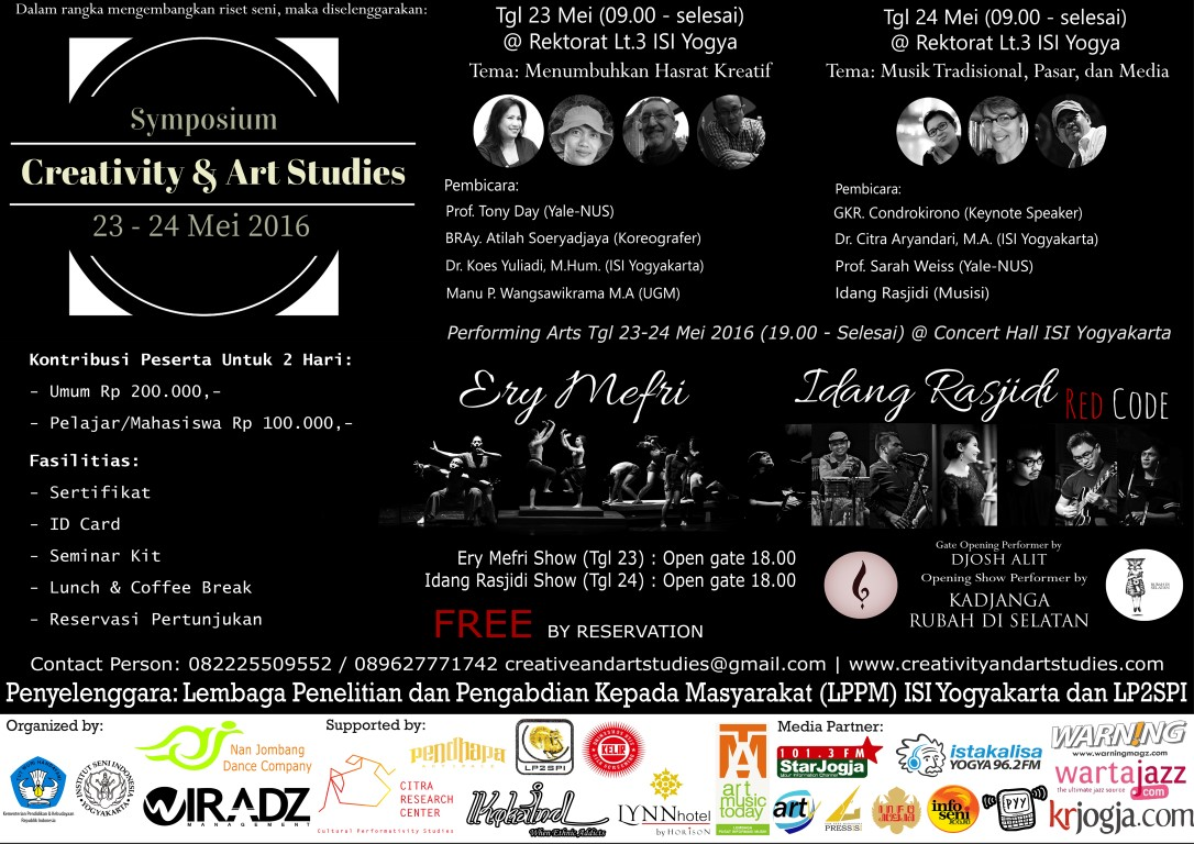 Photo of Symposium Creativity & Art Studies, LPPM Institut Seni Indonesia (ISI) Jogja 23-24 Mei 201