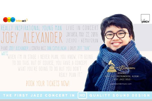 Photo of Nantikan konser Joey Alexander di Jakarta
