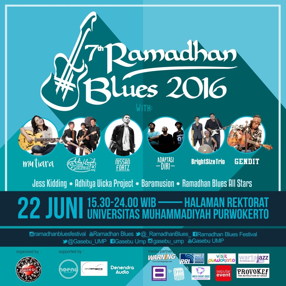 Photo of 7th Ramadhan Blues 2016 Kembail Digelar di Purwokerto