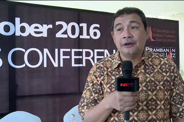Idang Rasjidi saat konferensi pers Prambanan Heritage Jazz