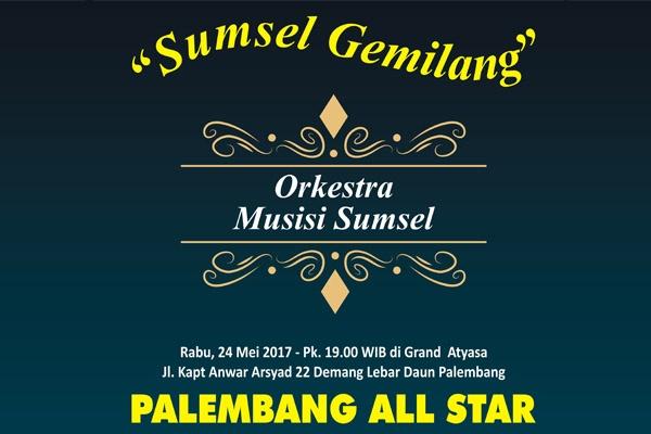 Pertunjukan Sumsel Gemilang oleh Palembang All Star Orkestra