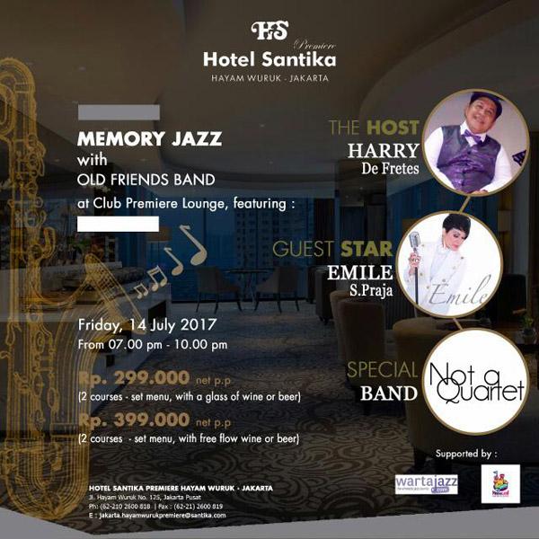 Photo of Memory Jazz hadirkan Emile S. Praja, Not a Quartet, Old Friends Band dan Harry de Fretes di Santika Premiere Hayam Wuruk