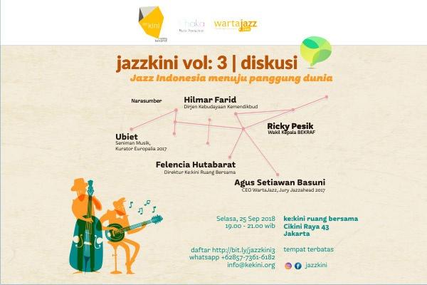 Photo of Jazzkini volume 3 sajikan diskusi Jazz Indonesia menuju panggung dunia