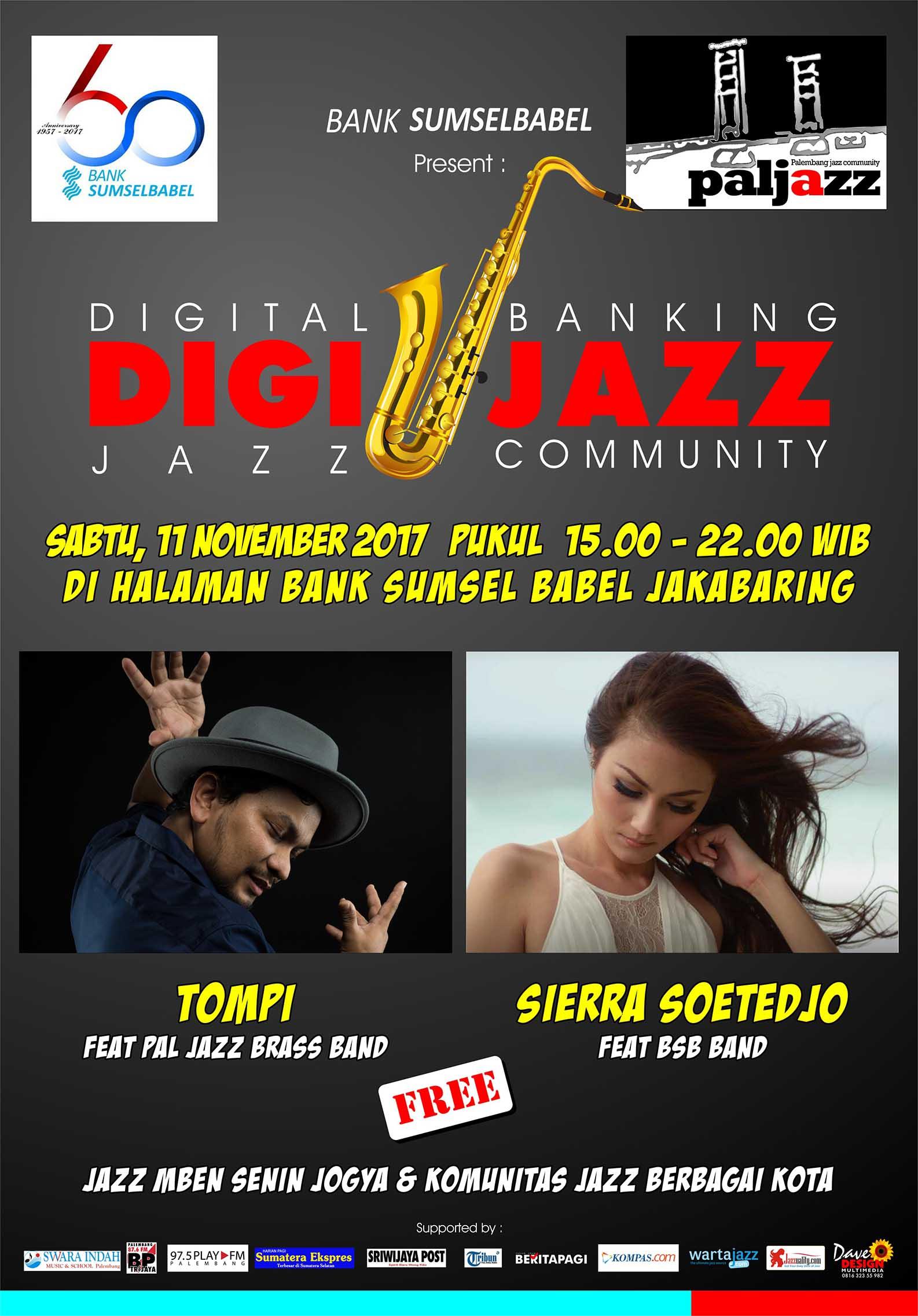 "Photo of DIGI JAZZ BANK SUMSEL BABEL ""Digital Banking N Jazz Community"""
