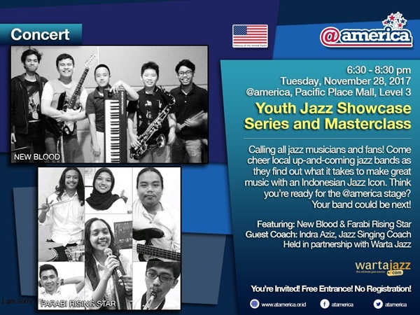 Photo of Youth Jazz Showcase Series November 2017: New Blood dan Farabi Rising Star plus Indra Aziz sebagai Guest Commentator