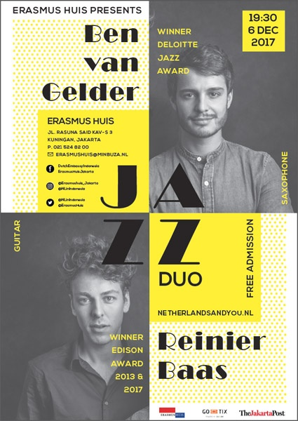 Photo of Konser Jazz Duo Reinier Baas (gitar) dan Ben van Gelder (saxofon) asal Belanda