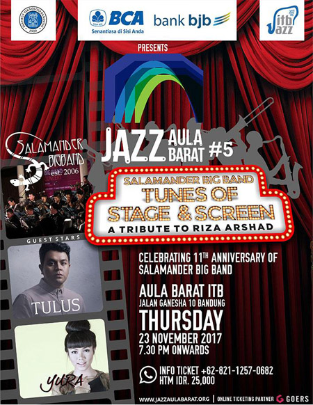 Photo of Jazz Aula Barat #5 Tribute to Riza Arshad usung Salamander Big Band, Yura dan Tulus