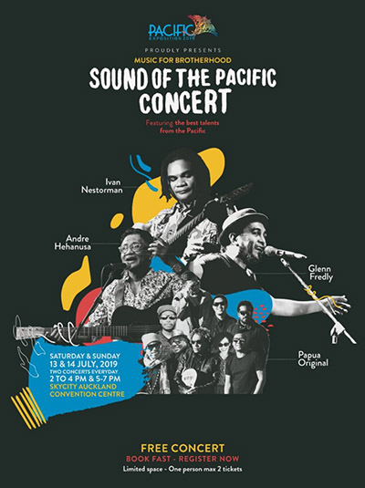 Photo of Ivan Nestorman, Papua Original, Glenn Fredly dan Andre Hehanussa tampil di Sound of Pacific Selandia Baru